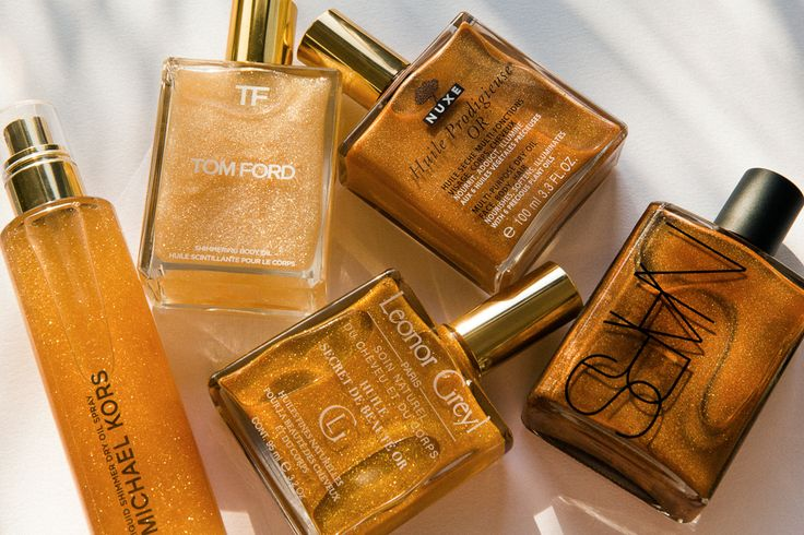 Shimmer body oil grew up and out of the tween-mall cohort and into the hands of experts like Tom Ford and Nars. Here's what to wear this summer and glow