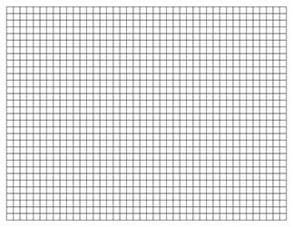 003 8.5 x 11 Letter Graph Paper Template PDF, Landscape When