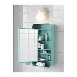 GUNNERN ミラーキャビネット 扉1枚付き, ターコイズ ブルー - 31x62 cm - ターコイズ - IKEA
