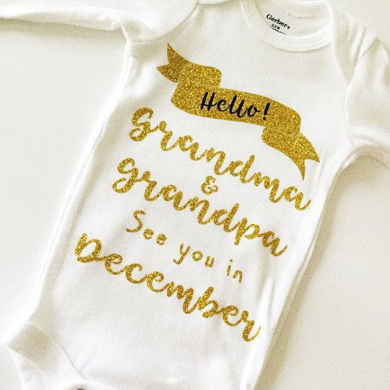 Baby announcement onesie Personalized Baby gift Personalized