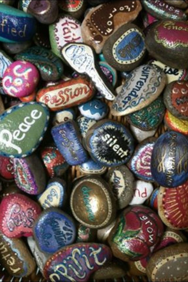 I painted 200 rocks with a couple friends for a Women's Retreat. Each person had to pick one with their eyes closed. There were some amazing stories of how God used them in women's lives!