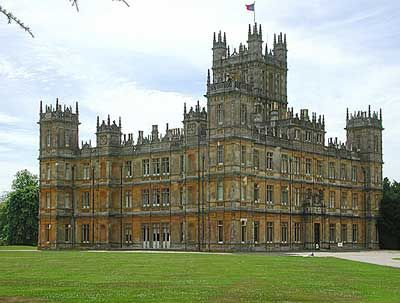 Highclere Castle, where Downton Abbey is filmed