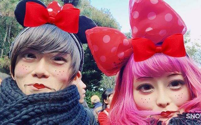 WEBSTA @ aaaaametal - #photo#me#selfie#boyfriend#couple#disney#manicpanic#hair#haircolor#pinkhair#emo#kawaii#metal#metalcore#djent#deathcore#alternative#hardcore#punk#goth#メタラーカップル#マニパニ 楽しかったけど寒かった、、