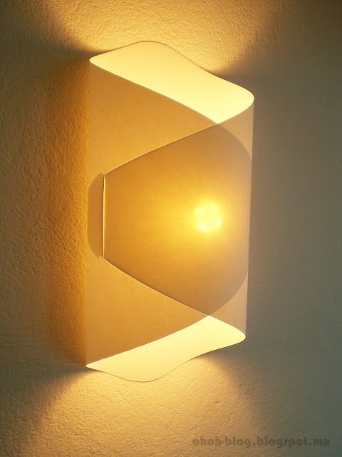 DIY paper lamp / Lampara de papel | Ohoh Blog - diy and crafts