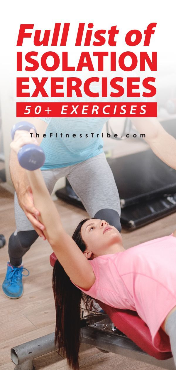 List Of Isolation Exercises By Muscle Group In 2021 Workout Programs Exercise Senior Fitness