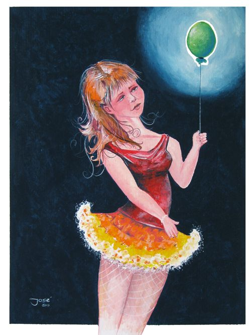 Galerie Spons - José Bakker - Meisje met de ballon