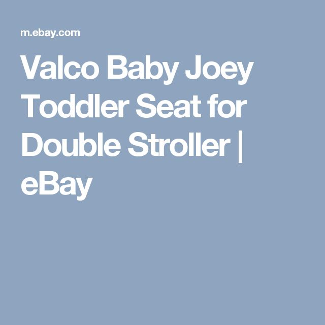 Valco Baby Joey Toddler Seat for Double Stroller | eBay