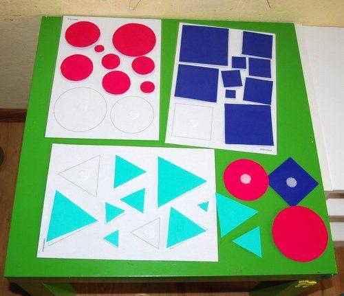 Puzzle Montessori, puzzle kształty na samoprzylepny rzep