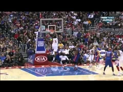 DeAndre Jordan Alley-Oop Dunk over Brandon Knight.  Clippers vs. Pistons.    @ http://www.great.nsopportunity.com/