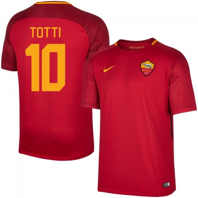 Camiseta del AS Roma 2017-2018 Local + Totti 10 (Dorsal Estilo Fan ... 8c6d7cec2ce57
