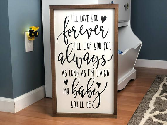 I Love You Forever I Like Your For Always Wood Sign Quote Signs