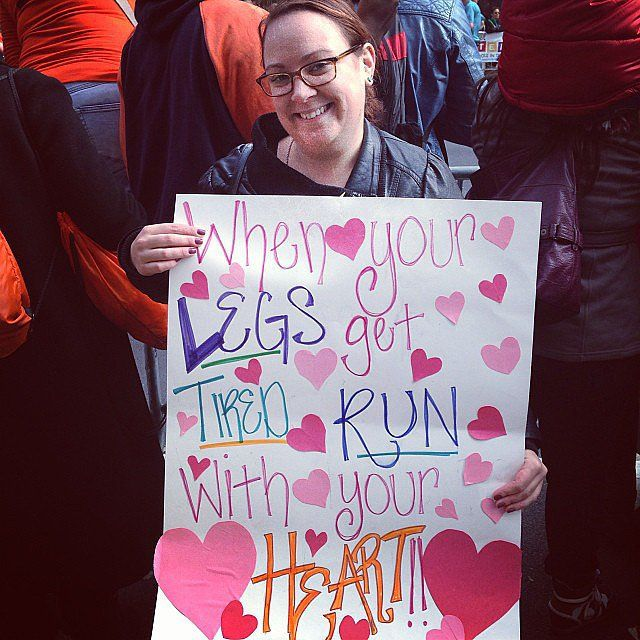 Be the Inspiration! Marathon Poster Ideas: As we mark the anniversary of the events at last year's Boston Marathon, it's even more important to cheer on friends, family members, and even strangers if you're attending the race on Monday.