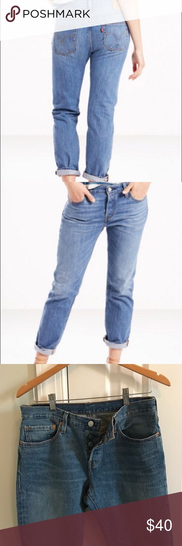 Authentic Levi's 501 Womens Button Fly Jeans LNWOT, Authentic Womens Levi's 501 Jeans, Size W26 L32 (I'm a 2/4 and these fit great), cute with rolled hem, purchased these directly from Levi's, only worn once. Levi's Jeans