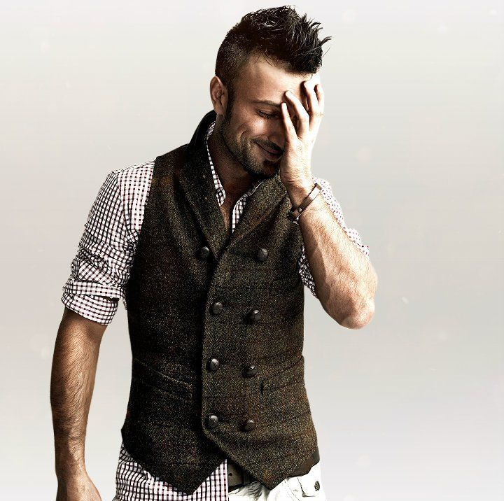 Awesome brown tweed waistcoat style vest