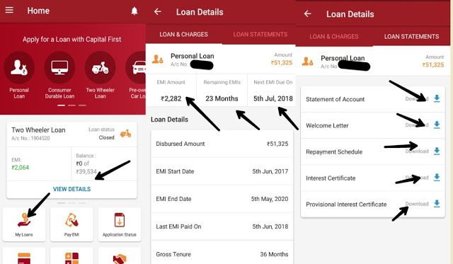 Capital First Two Wheeler Loan Statement Online In Hindi Kaise How Loan Personal Loans Capital One