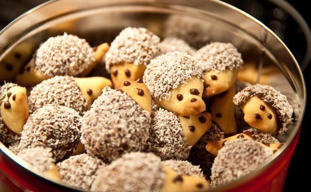 Schnelles Weihnachtsgebäck: Igel-Kekse