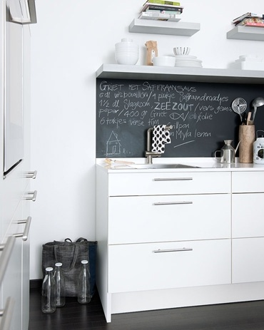 Sucker for a chalkboard wall.