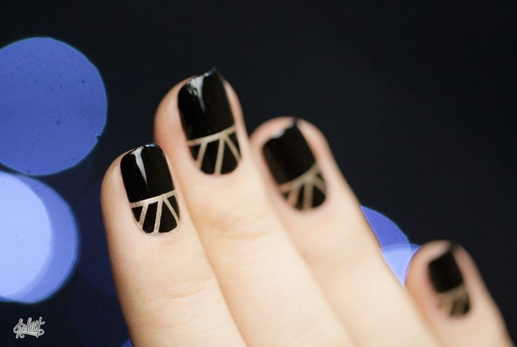 New Year Nail art idea