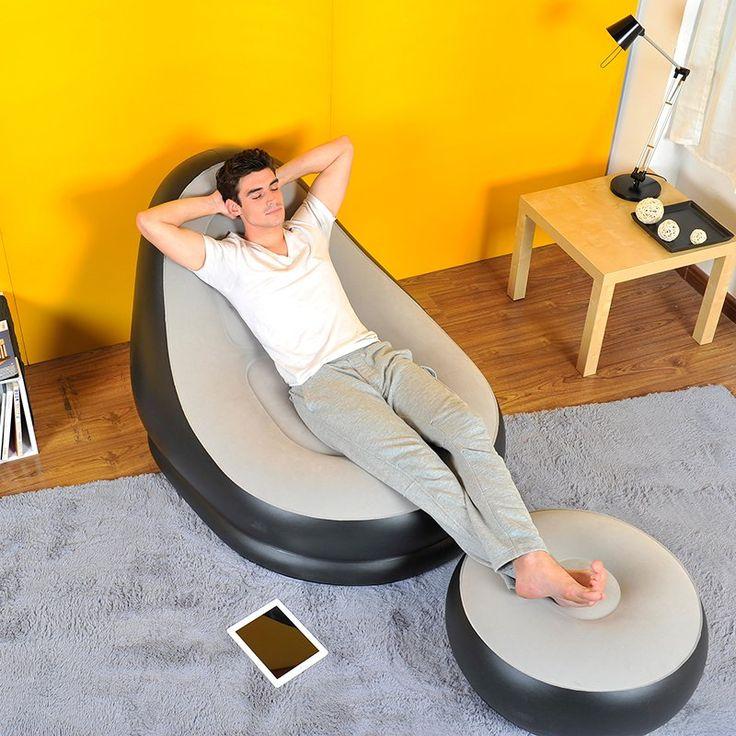 Inflatable Air Chair & Ottoman - $24