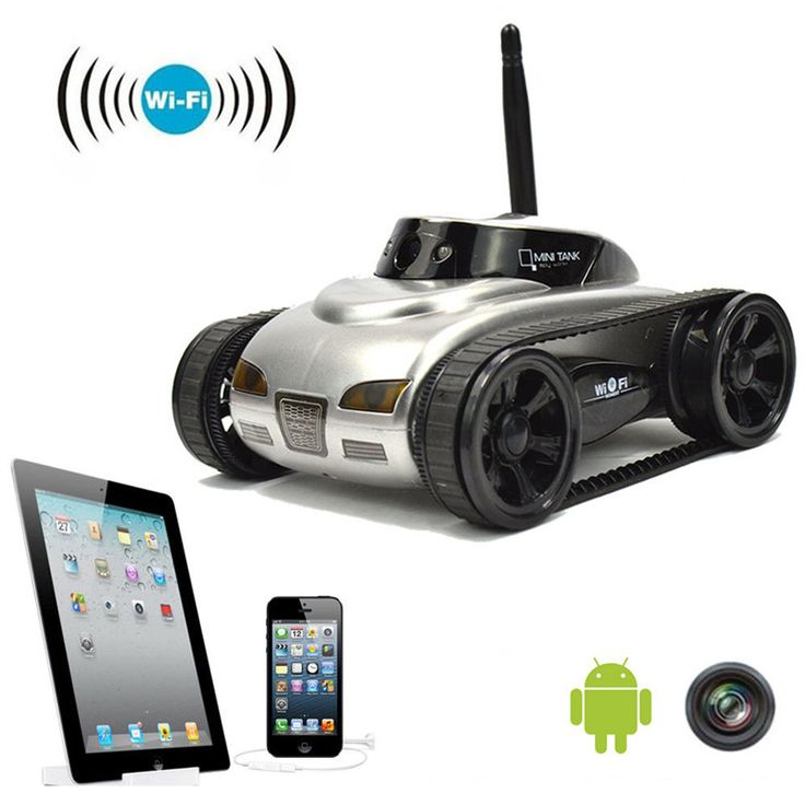 Wifi Remote Control Tank Mini RC Camera Cars 777-270 with 30W Pixels Camera for iPhone iPad iPod