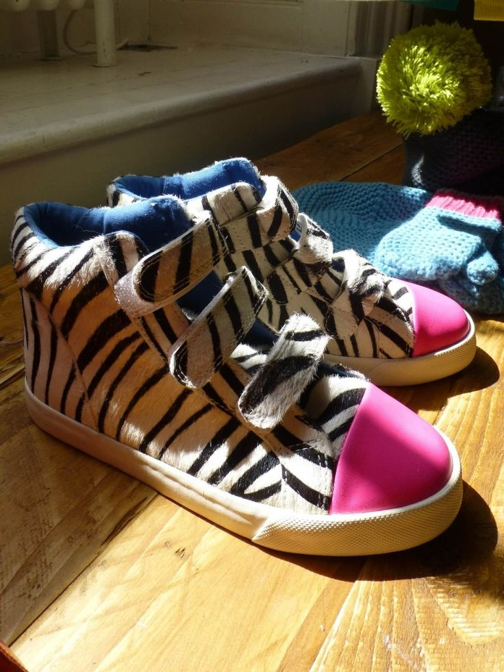 Fantastic zebra print sneakers for girls at Mini Boden preview for winter 2013