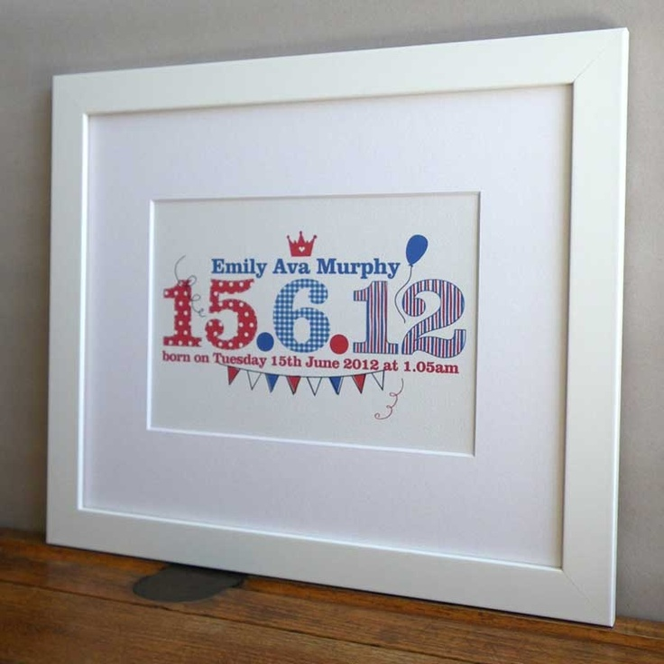 38 best personalised gifts for kids images on pinterest childrens special date print personalised with a childs name and birth date new baby gift idea negle Choice Image