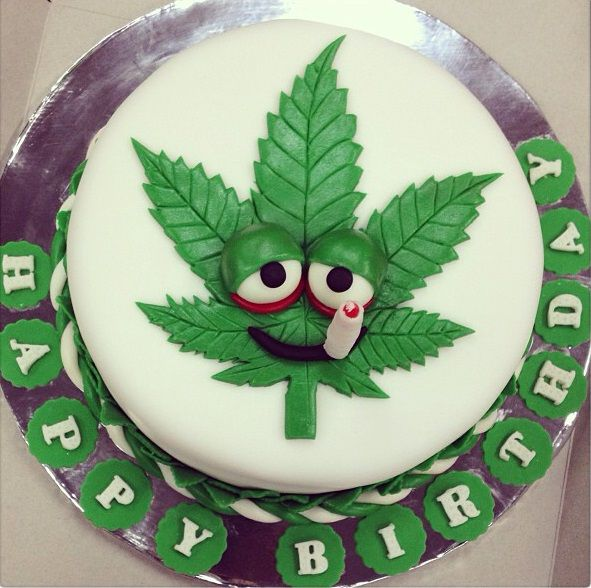 Marijuana Birthday Cake Designs