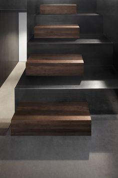 Wood & Hot Rolled Steel Stair