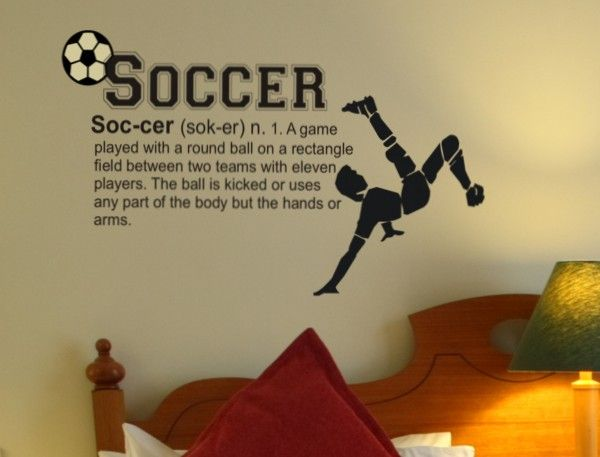 Soccer Definition Wall Decal, Soccer Wall Sticker, For RJ's room