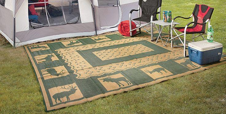 RV Camping Mats Stadium Seats For Bleachers Patio Floor Backyard Picnic Anywhere #Unbranded