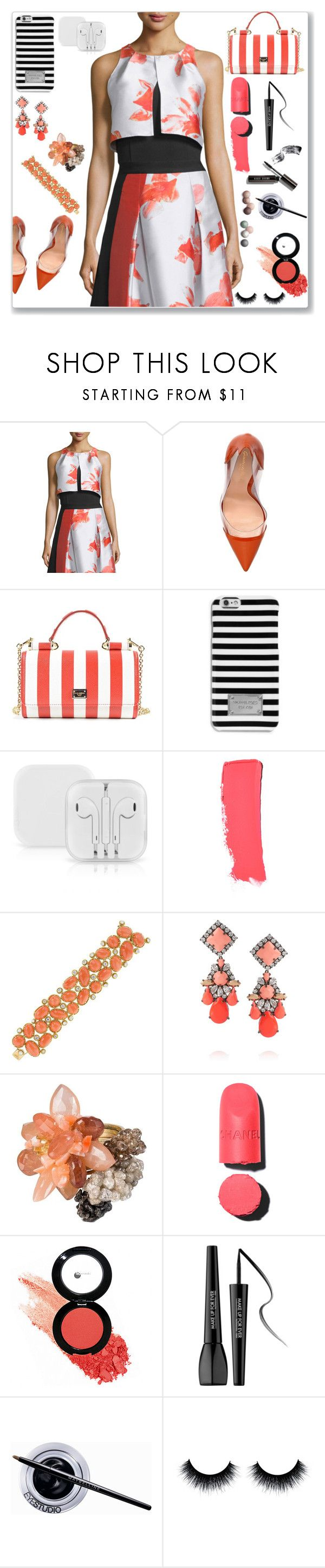 """""""Sin título #367"""" by andy-a-lino ❤ liked on Polyvore featuring NOIR Sachin + Babi, Gianvito Rossi, Dolce&Gabbana, MICHAEL Michael Kors, Chanel, Van Cleef & Arpels, Shourouk, Glo Minerals, MAKE UP FOR EVER and Maybelline"""