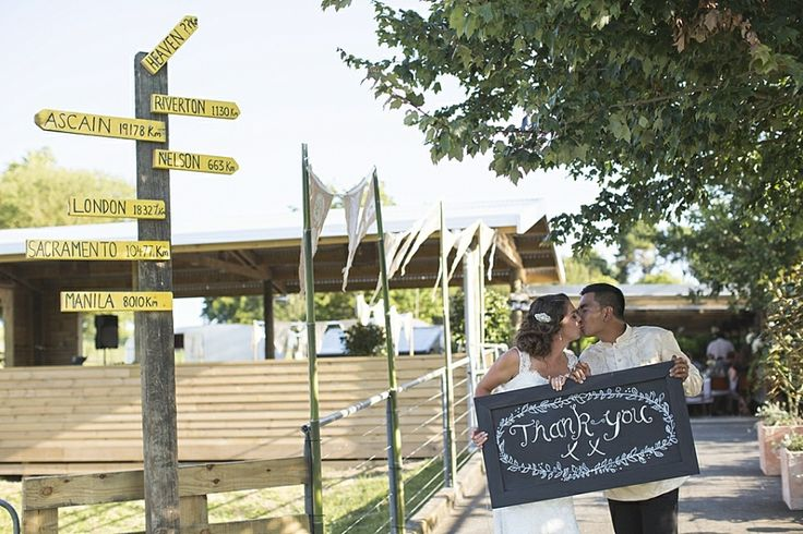wedding thank you sign, rustic farm wedding, backyard wedding, DIY wedding, Rustic, Vintage, Catholic wedding, outdoor wedding, anna allport photography, Auckland w...