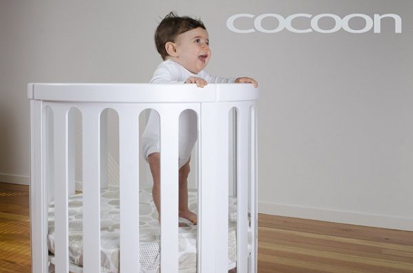 Cocoon Nest Cot White including 2 Mattresses
