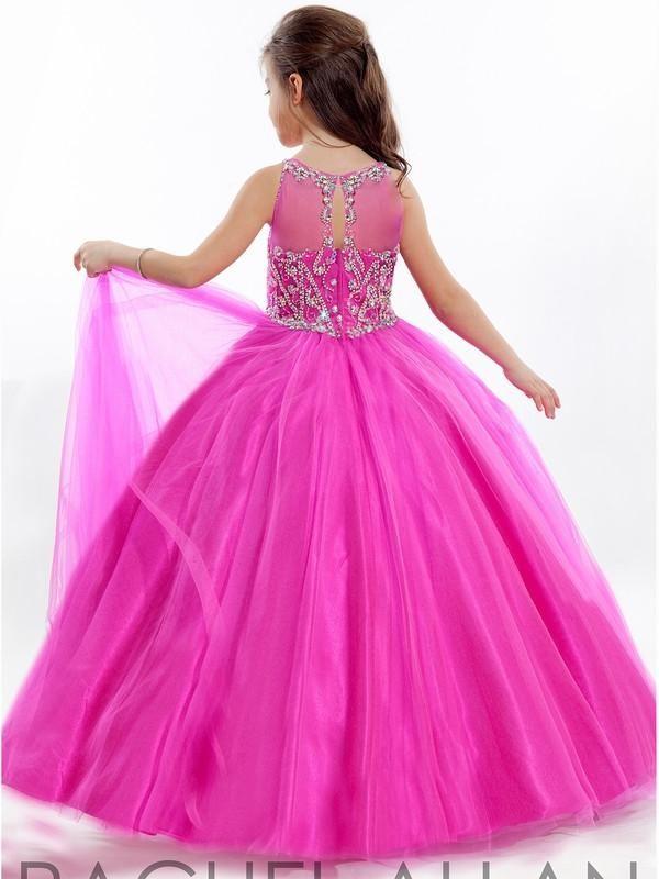 WF6300 Carino Piccole ragazza abiti per la promenade perline di cristallo di sfera Flower Girl Dress Prima Comunione Abiti Per Ragazze