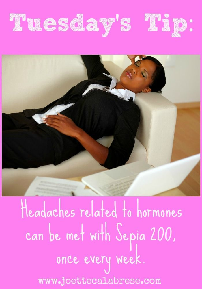 Headache related to hormones? Try this!