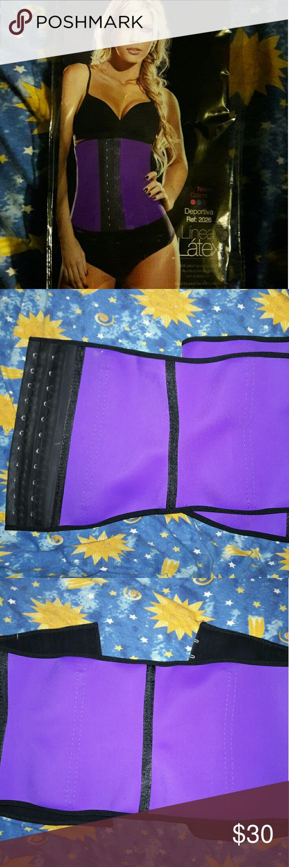 2 for $30 Ann Cherry Waist Cincher/Trainer Not the cheap quality I could not even get on my waist lol I am too thick they are Purple tried on once and comes  in original packaging no wear at all still look brand new! Intimates & Sleepwear Shapewear