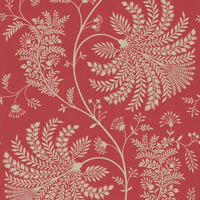 Обои красные с растениями 216339 Sanderson