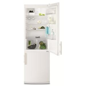 ELECTROLUX - EN3450COW _ Réfrigérateur Combiné - Réfrigérateur : 245 L - Dégivrage automatique - Froid brassé FreeStore : assure un niveau d'humidité optimal - Clayette porte-bouteilles - Clayettes verre - Compartiment basse température CrispFresh avec contrôle d'humidité : conserve la saveur et le croquant de vos fruits et légumes plus longtemps - Eclairage LED. Congélateur No-Frost : 78 L - 3 tiroirs - Fonction Super congélation. Régulation électronique.