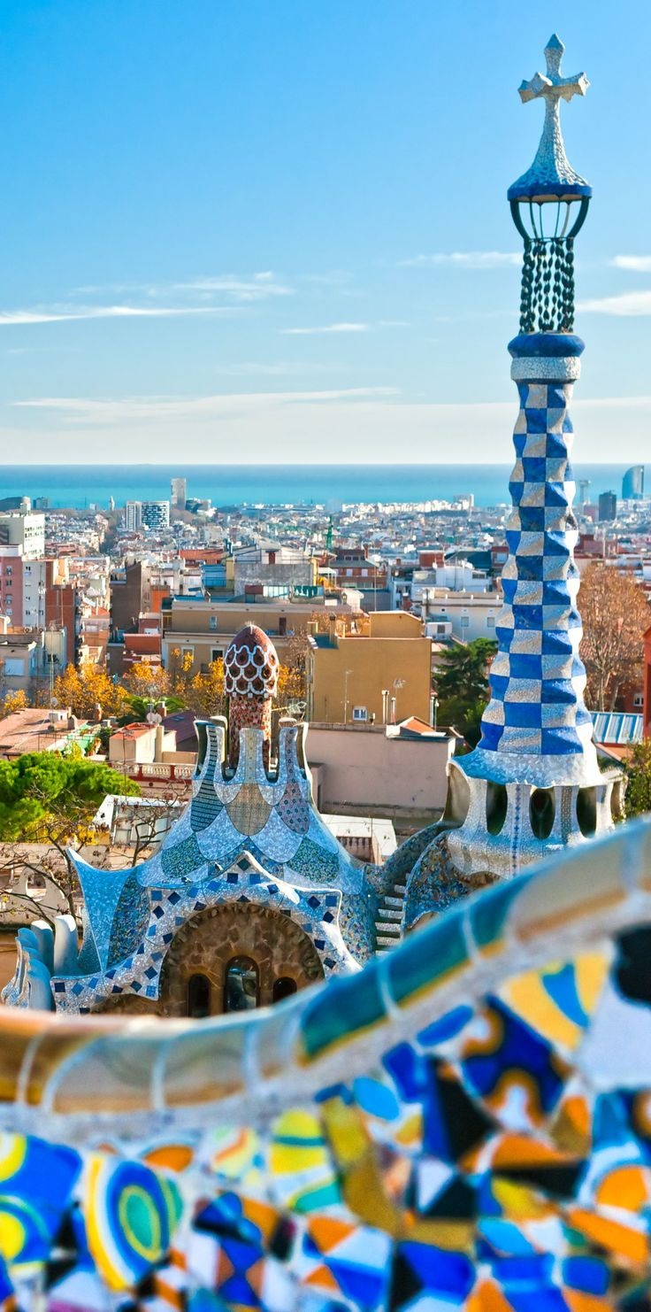 Park Guell in Barcelona …