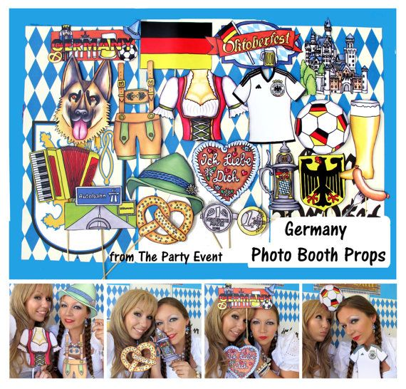 READY MADE Germany Oktoberfest photo booth props perfect for