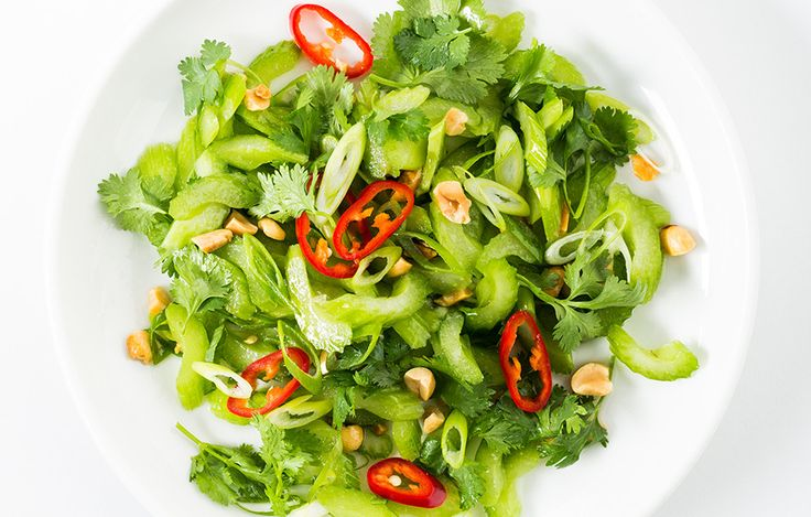Celery is the perfect vehicle for a salty, assertive dressing like this one. Chiles and peanuts make this dish that much more addictive. —Alison Roman, senior associate food editor