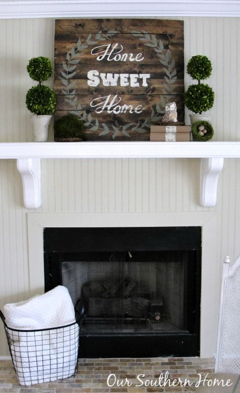 budget cottage mantel wall makeover sweet home