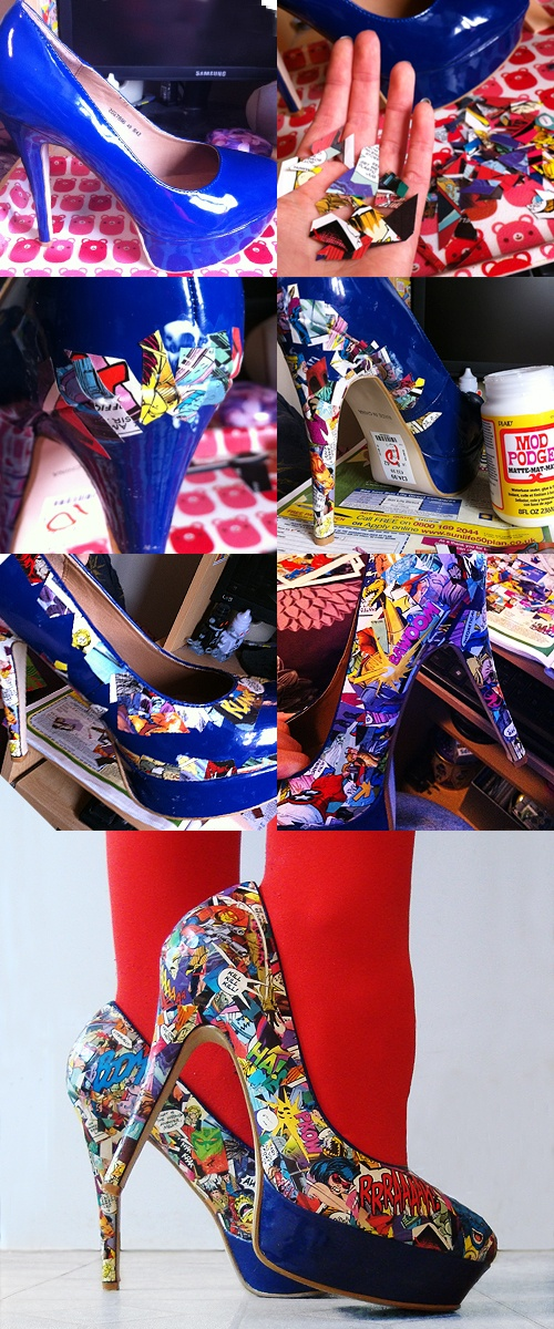 I wonder if I could do this to my sneakers. #diyfashion #nerdfashion #comics