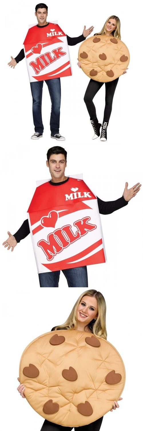 Halloween Costumes Couples: Milk And Cookies Costumes Adult Funny Couples Halloween Fancy Dress -> BUY IT NOW ONLY: $38.29 on eBay!