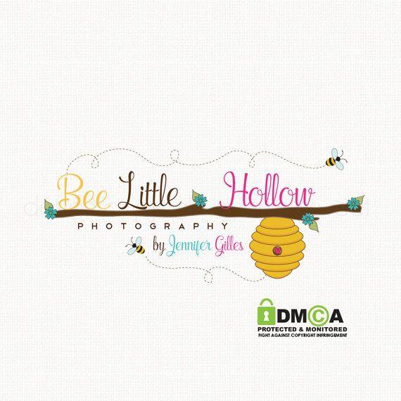 Beehive Logo Bee Logo Design Honey Logo by stylemesweetdesign