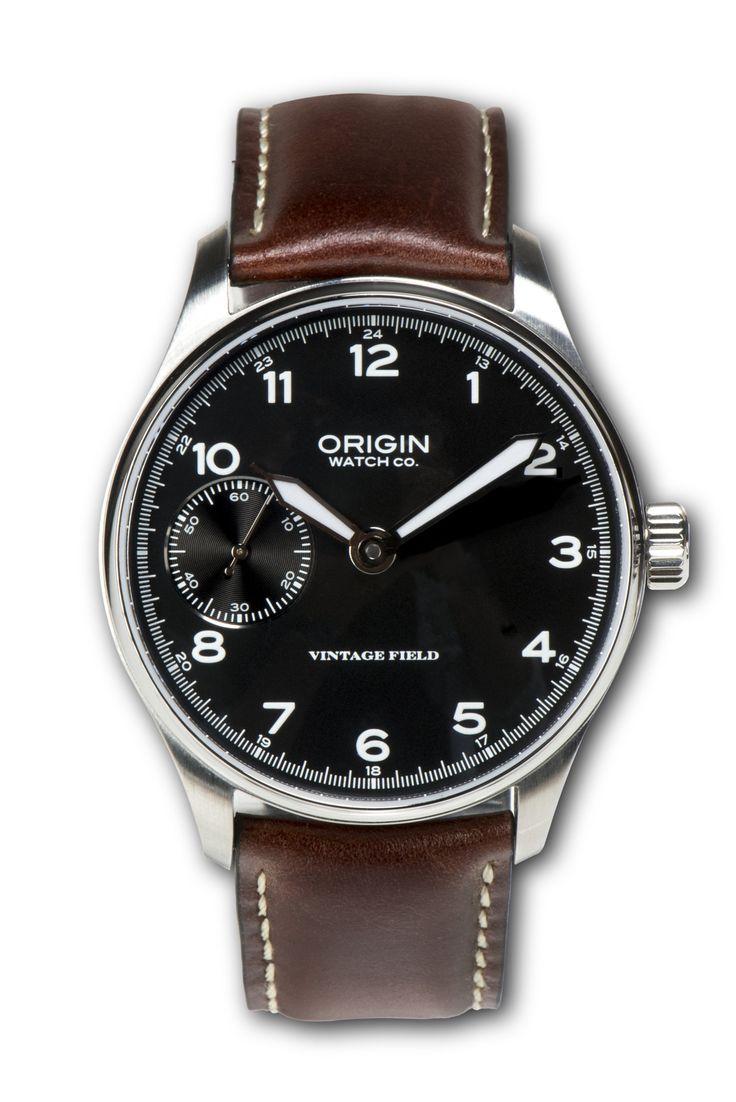 Vintage Field Watch 2n Edition Black Dial