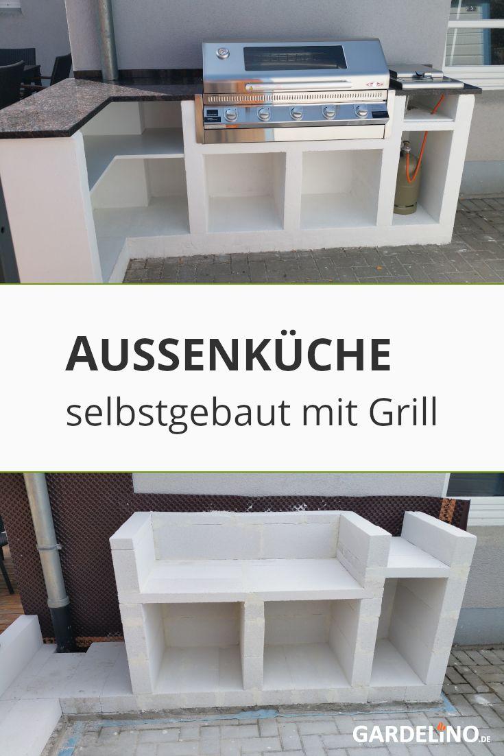 Selbstgebaute Aussenkuche Aus Beton In 2020 Eingebauter Grill Outdoor Kuche Kuche Im Freien