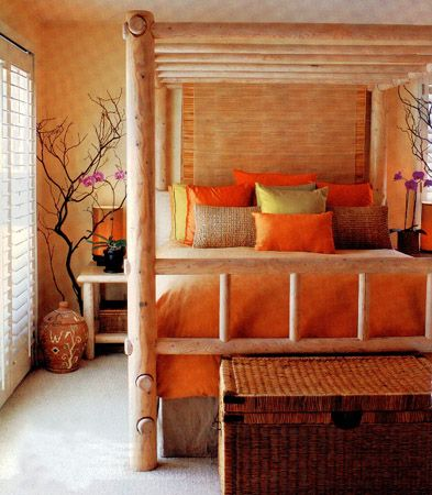 17 best ideas about orange bedrooms on pinterest orange for Bedroom ideas earth tones