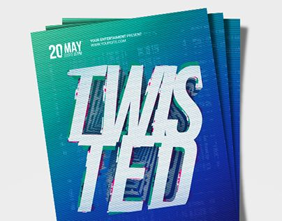 """Check out new work on my @Behance portfolio: """"Twisted Flyer"""" http://be.net/gallery/58094563/Twisted-Flyer"""