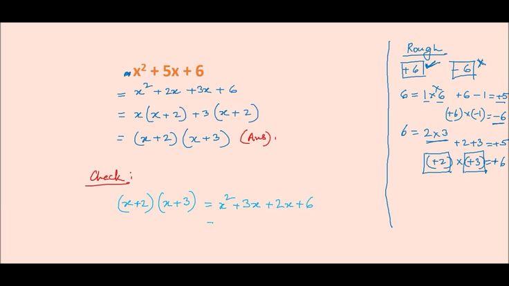 Online Math Tutoring ---- Factorisation by the Middle Term Splitting Method